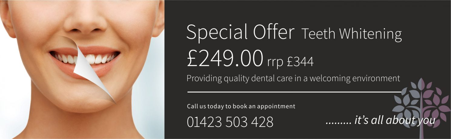 Teeth whitening offer Coppice View Dental Care Harrogate
